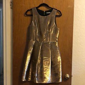 Eliza J gold party dress
